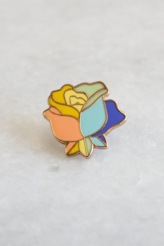 Equality Rose Lapel Pin