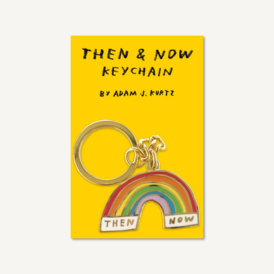 Then and Now Keychain by Adam Kurtz