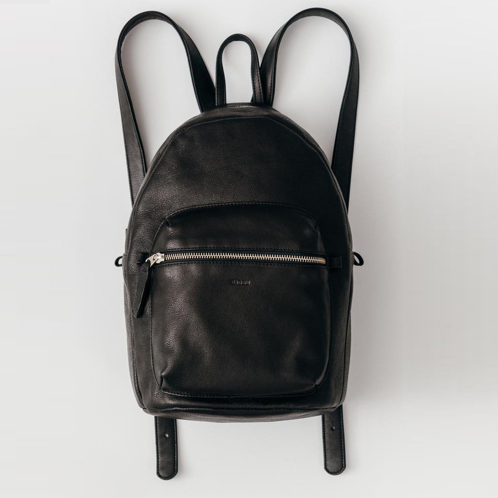 Leather Backpack Black