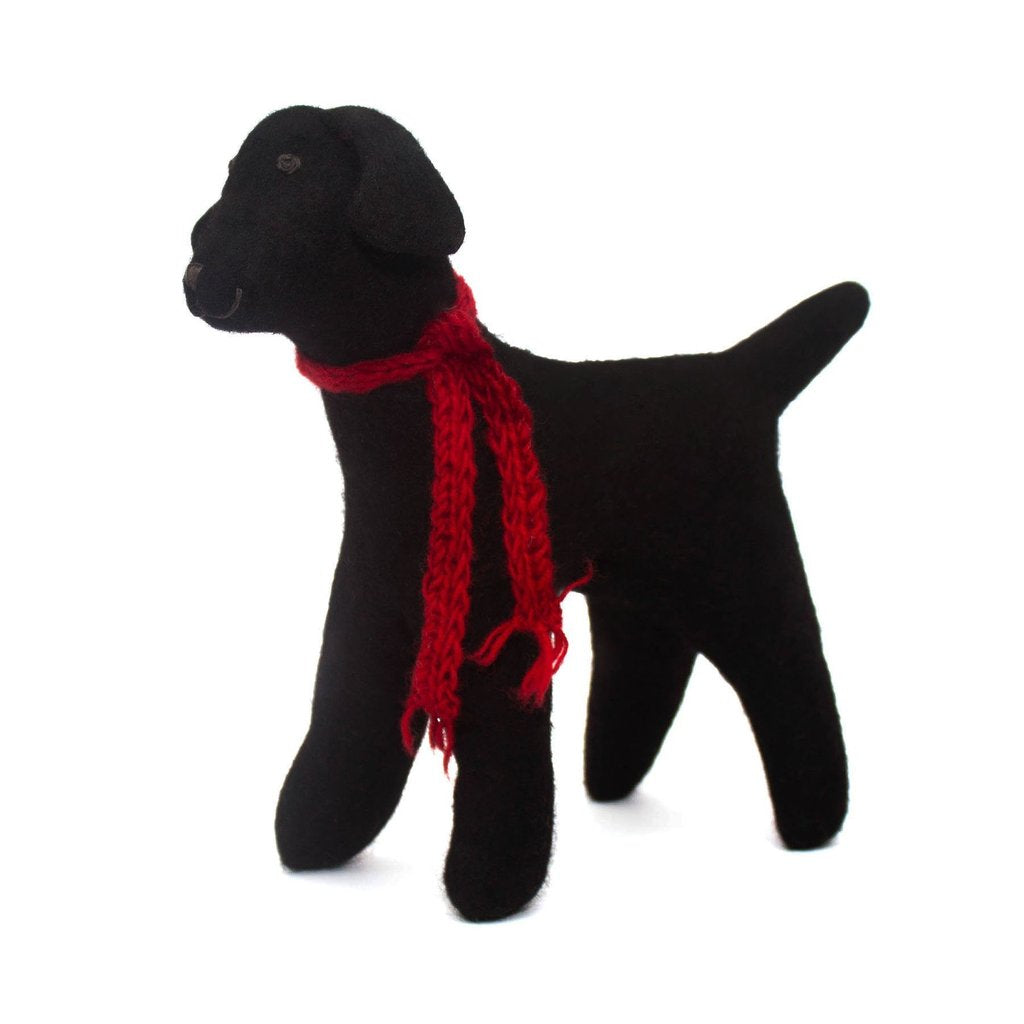 Felted Black Lab