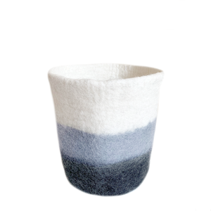 Felt Basket/Planter Grey