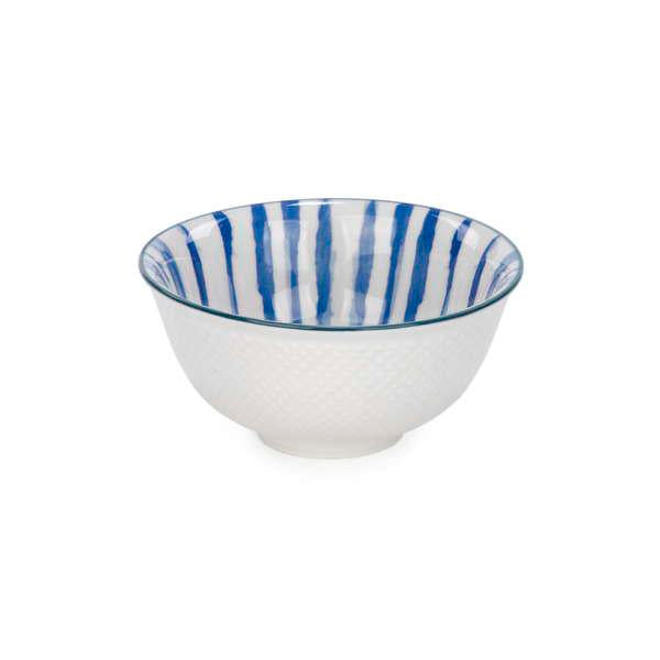 Small Bowl Blue Stripes