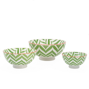 Kiri Collection Green Zig Zag