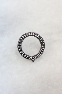 Braid Black Lapel Pin