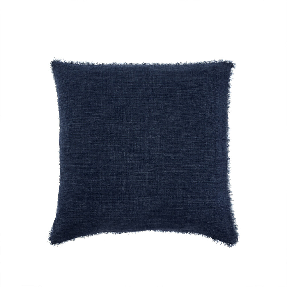 Lina Linen Pillow Cobalt 24