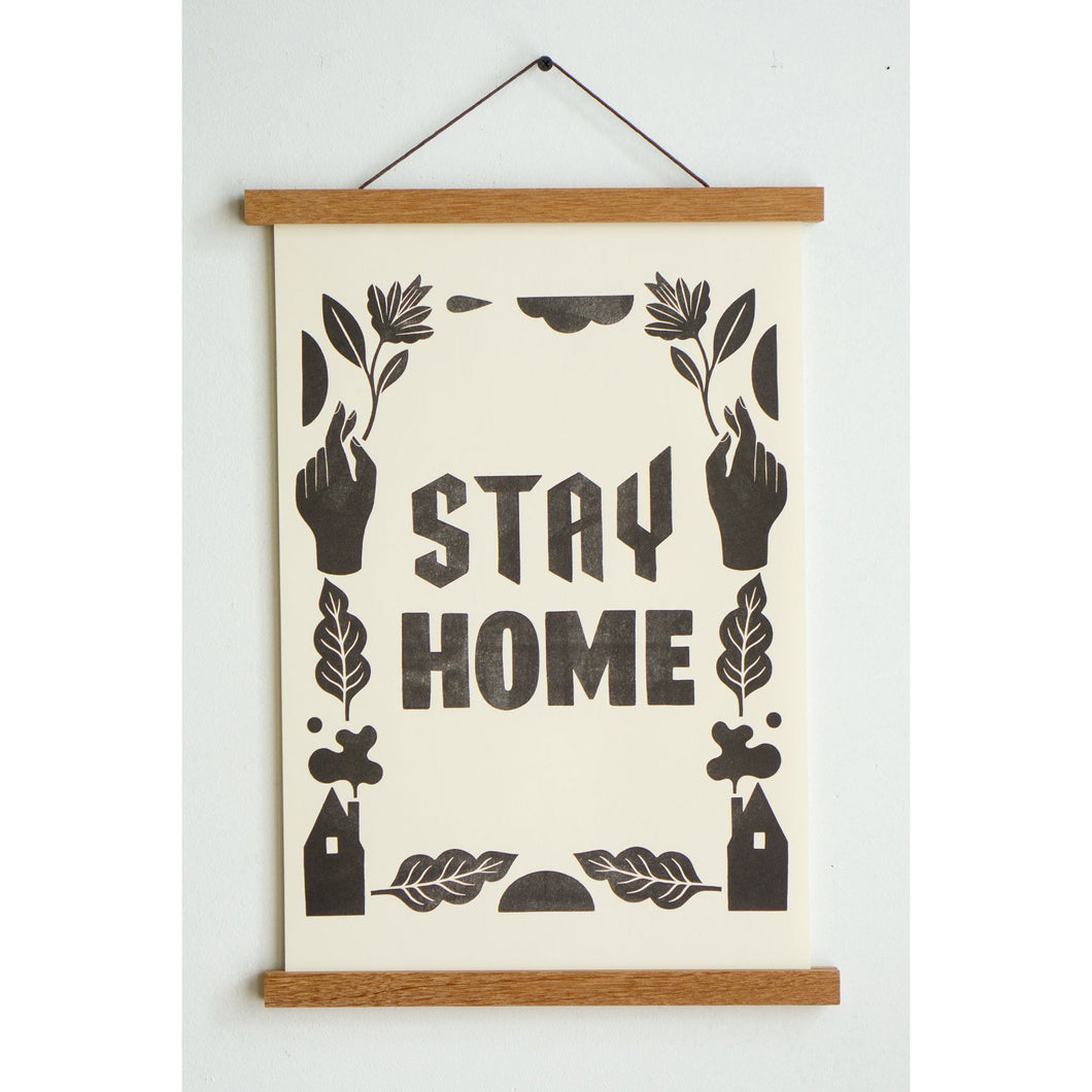 Stay Home Riso Print