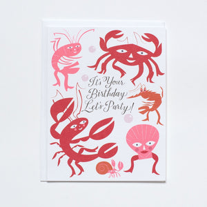 Shellfish Birthday Card
