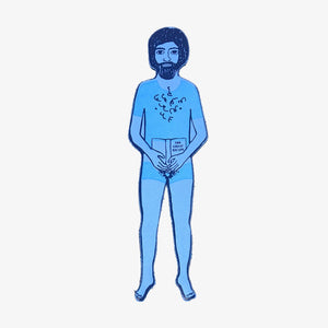 Naked Sunbather Bookmark Man Cornflower