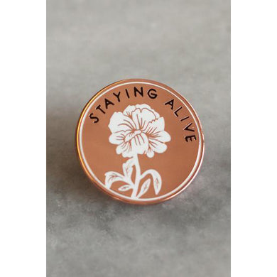 Staying Alive Lapel Pin