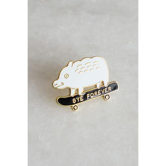 Bye Forever Lapel Pin