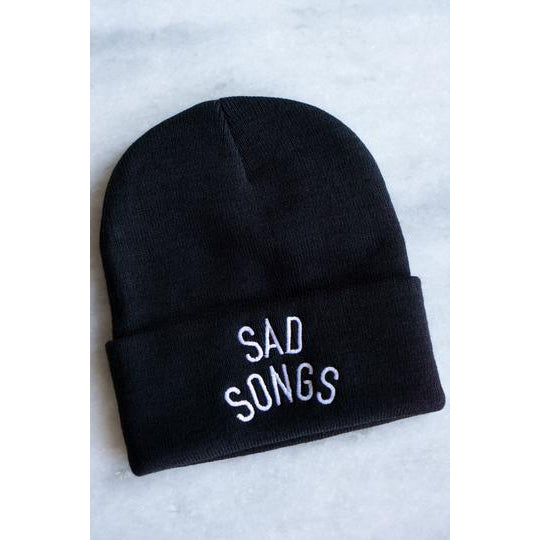 Sad Songs Beanie Black