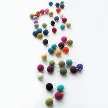 Multi Colour Felted Ball Garland