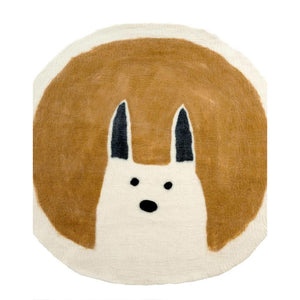 Felted Wool Rug Rabbit