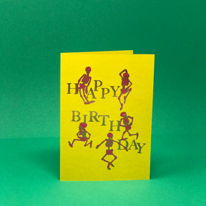 Happy Birthday Skeletons Card
