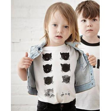 Greyscale Kitties Kids T-Shirt