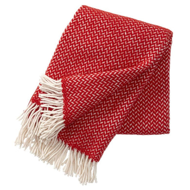 Polka Throw Red