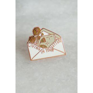 Living In Your Letters Lapel Pin