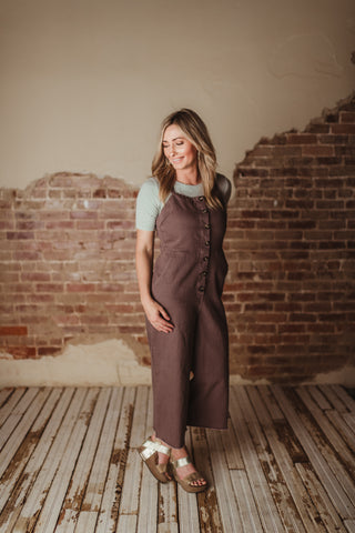 Olivia Button Down Jumpsuit