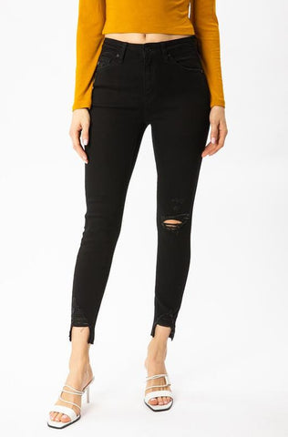Zoey Black Distressed Kancan Jeans