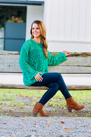 Jessie Kelly Green Sweater