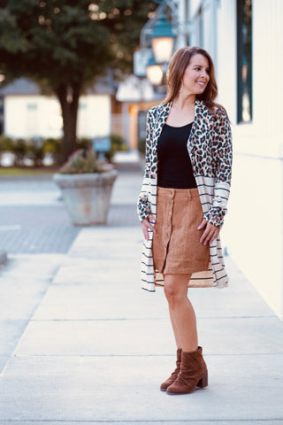 Stephanie Two Tone Cardigan