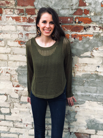Olive Knit Top