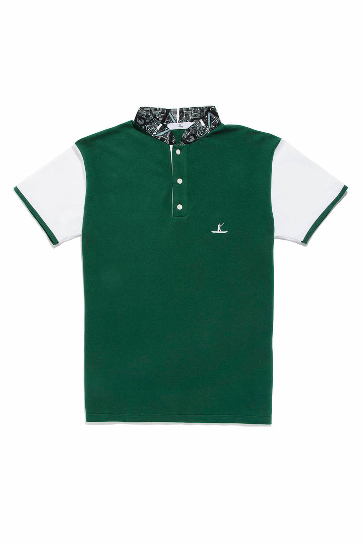 EBRAH Polo vert homme manches courtes