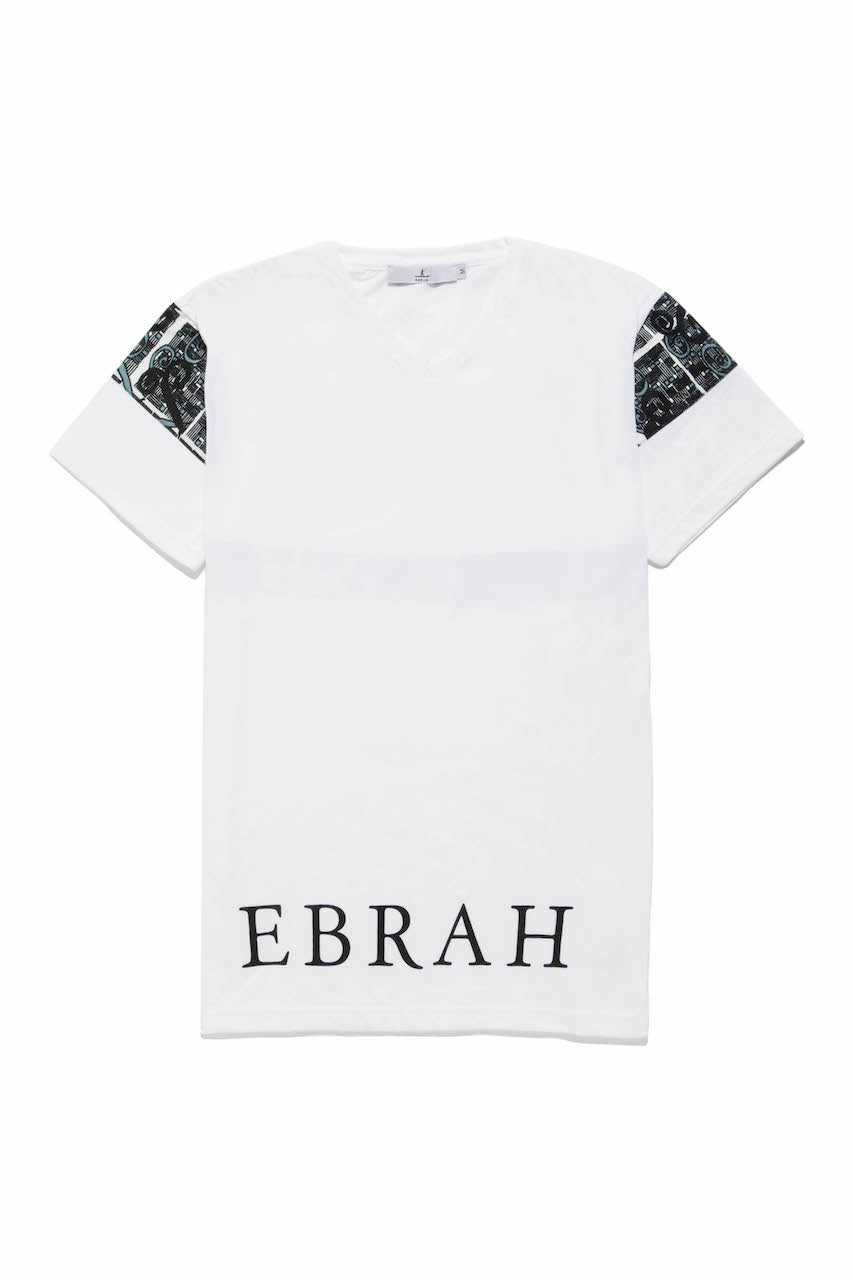 EBRAH, T-SHIRT MANCHES COURTES BLANC, TEE-SHIRT HOMME BLANC, T-SHIRT BLANC, T-SHIRT MADE IN FRANCE