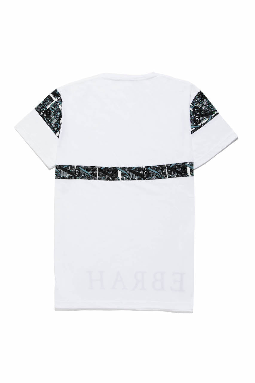 EBRAH, T-SHIRT MANCHES COURTES BLANC, TEE-SHIRT HOMME BLANC, T-SHIRT BLANC, T-SHIRT MADE IN FRANCE, T-SHIRT BLANC AVEC DU WAX