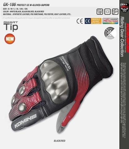 Komine GK 186 Protect CE Mesh Gloves Superb