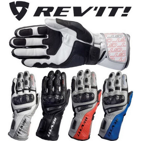 REV'IT! GT CORSE MOTORCYCLE RACING SPORT LEATHER GLOVES REV'IT