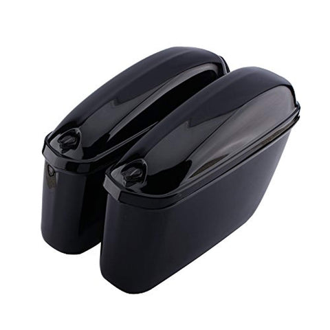 Motorcycle Cruiser Hard Trunk Saddle Bag Box Side Luggage