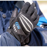 BMW Gloves BMW Motorrad Motorcycle Genuine Rallye Gloves GS Blue and Red