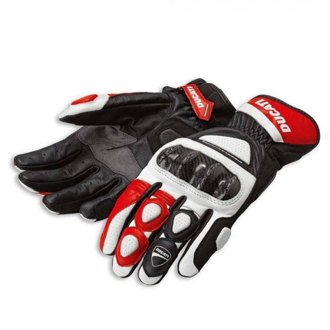 Ducati Sport 2 C2 Leather Spidi Motorcycle Short Gloves