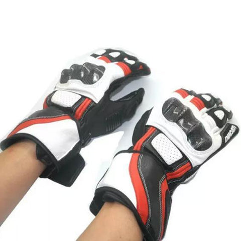 Ducati Leather 14 Motorcycle Racing Gloves