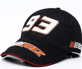 FirstGearMoto caps 93 black Marc Marquez MM93 baseball hat cap 93 69 autograph men women unisex MotoGP caps
