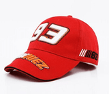 FirstGearMoto caps 93 red Marc Marquez MM93 baseball hat cap 93 69 autograph men women unisex MotoGP caps