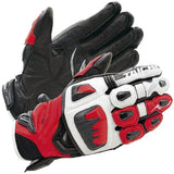 FirstGearMoto Gloves M / Red RS TAICHI RST400 Motorcycle Leather Gloves