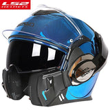 FirstGearMoto Helmets Chrome Blue / XL LS2 FF399 Valiant Lumen Helmet
