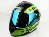 FirstGearMoto Helmets Green / M Kawasaki Motorcycle Full Face Helmet