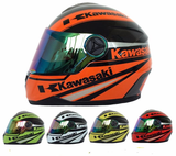 FirstGearMoto Helmets Kawasaki Motorcycle Full Face Helmet
