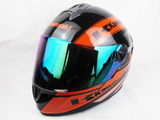 FirstGearMoto Helmets Orange / M Kawasaki Motorcycle Full Face Helmet