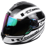 FirstGearMoto Helmets White / M Kawasaki Motorcycle Full Face Helmet