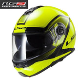 FirstGearMoto Helmets Yellow Black ff325 / XL LS2 FF325 Strobe Helmet