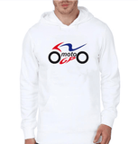 FirstGearMoto Hoodies White / XXS MOTO GP Motorcycle Motocross Hoodie
