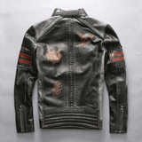 FirstGearMoto Jackets Avirexfly Motorcycle Leather Jacket