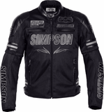 FirstGearMoto Jackets Black / M SIMPSON SUMMER Motorcycle  JACKET