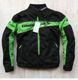 FirstGearMoto Jackets Black / S Kawasaki Moto GP Motorcycle Racing Jacket