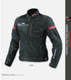FirstGearMoto Jackets Black / S KOMINE JK-044 Titanium Mesh Jacket R-Spec