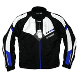 FirstGearMoto Jackets Blue / M YAMAHA Textile Motorcycle Racing Jacket With Protective Gear